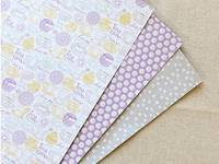 Fabric Sticker Tea time 3er Set A4