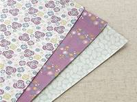 Fabric Sticker Camellia 3er Set A4