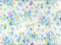 Fluffy flower blue double gauze
