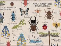 Wachstuch Insect Encyclopedia natur