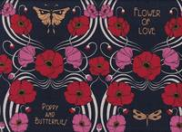 Poppy and butterflies navy