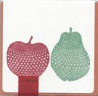 Letterpress folio card S. apple and pear