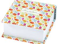 Sheri Lynn Block memo cube orange flower