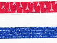 Washi Tape Eiffel tower red 3er Set 15mm