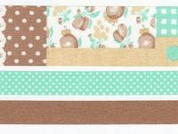Washi Tape Collage brown 3er Set 25mm+10mm