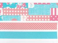 Washi Tape Collage pink 3er Set 25mm+10mm