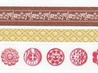 Washi Tape Button brown 3er Set 10+15+20mm