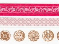 Washi Tape Button red 3er Set 10+15+20mm