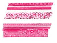 Washi Tape Frame pink 3er Set 10+15+20mm