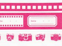 Washi Tape Camera pink 3er Set 10+15+20mm
