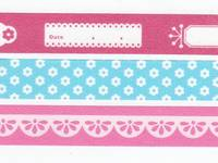 Washi Tape Photo deco fuchsia pink 3er Set 15mm