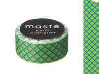 Washi Tape plaid green 15mm