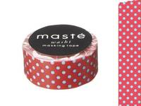 Washi Tape polka dots red15mm