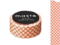 Washi Tape plaid salmon pink 15mm