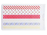 Masking Sticker - red ribbon/flag