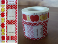 Masking Tape Apfel & Label rot 2er Set 15+30mm