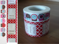 Masking Tape Muffins & Label rot 2er Set 15+30mm