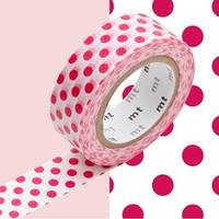 Washi Tape dot red 15mm