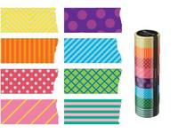 Washi Tape Colorful Pattern Mix 8er Set 15mm