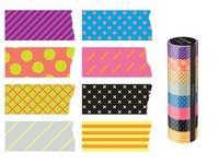 Washi Tape Neon Pattern Mix 8er Set 15mm