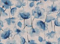 Watercolor Poppy blue