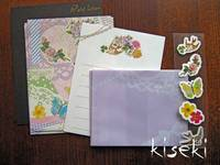 mini letter set Vogel