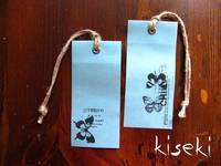 Wax paper tag Butterfly 2pcs