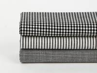 Fat Quarter 3er Pack natural & simple Black