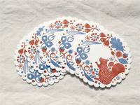 Letterpress coaster. Forest of squirrel. 5pcs