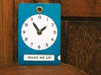 clock sign Blue green