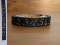 Paper Tape Numbers schwarz 10mm