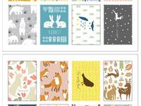Stamp Sticker Animal pattern