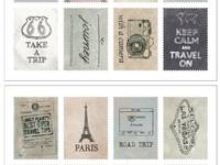 Stamp Sticker Travel