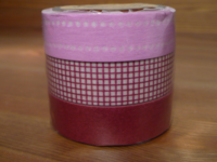 Washi Tape Plum 3er Set 15mm
