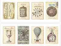 Stamp Sticker Antique