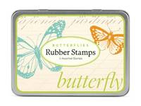 Rubber Stamp Set Butterflies