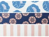 Washi Tape Tulip blue 3er Set 15mm
