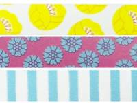 Washi Tape Tulip yellow 3er Set 15mm