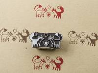 Blockwallah Stempel - Foxes in Love