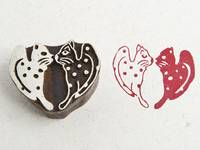 Blockwallah Stempel - Kitty Heart