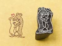 Blockwallah Stempel - Mice in Love
