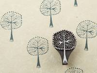 Blockwallah Stempel - Dotted Tree
