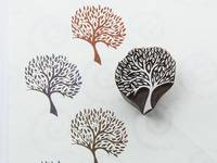 Blockwallah Stempel - Rain Tree