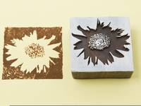 Blockwallah Stempel - Sunflower
