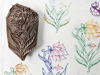 Blockwallah Stempel - Wild Flower