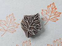 Blockwallah Stempel - Maple Leaf
