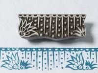 Blockwallah Stempel - Lotus Border