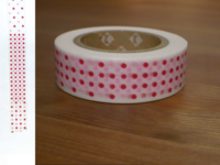Washi Tape marble red 15mm