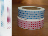 Washi Tape marble red&blue 2er Set 15mm