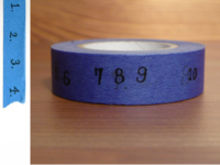 Washi Tape numbers blue 15mm